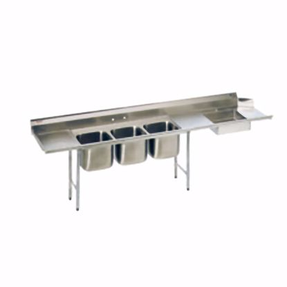 Picture of Eagle Group SDTPL-124-16/3 Dishtable, with Potsinks