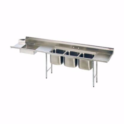 Picture of Eagle Group SDTPR-124-14/3 Dishtable, with Potsinks
