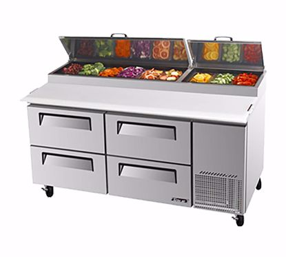 Picture of Turbo Air TPR-67SD-D4 Pizza Preparation Refrigerator