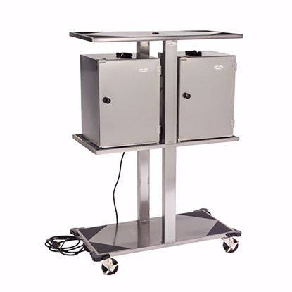 Picture of Lakeside 74555 Rack, Hand Lift Cabinet Transport Cart