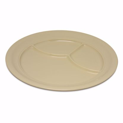 Picture of Carlisle 4351425 Plastic Compartment Plate/Platter