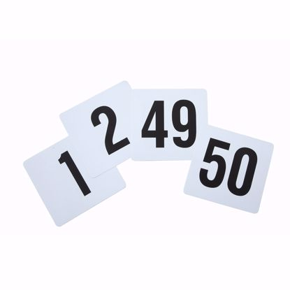 Picture of Winco TBN-50 Table Number Cards Set