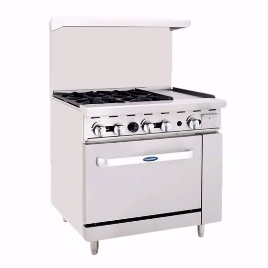 """Picture of Atosa ATO-4B12G Range, 36"""" 4 Open Burners"""