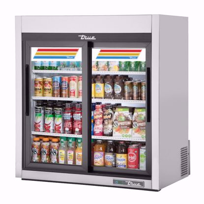 Picture of True GDM-09-SQ-S-HC-LD Counter Refrigerator