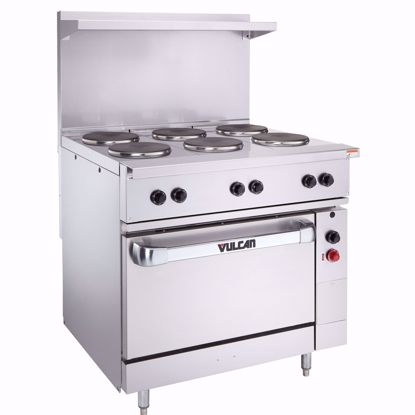 """Picture of Vulcan EV36S-2FP24G208 Range, 36"""", 2 French Hot Plates, 24"""" Griddle"""