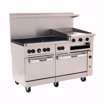 """Picture of Vulcan 60SS-6B24GB Range, 60"""", 6 Burners, 24"""" Griddle/Broiler"""