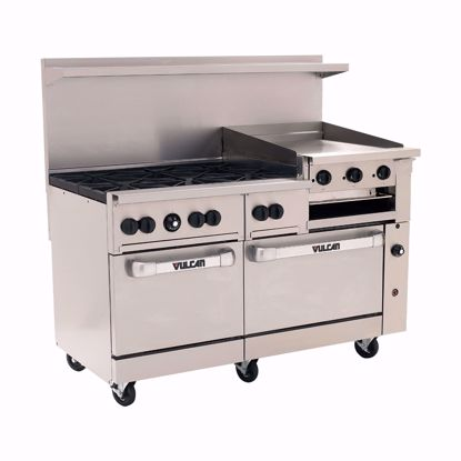"""Picture of Vulcan 60SS-6B24GBP Range, 60"""", 6 Burners, 24"""" Griddle/Broiler"""
