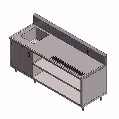 Picture of John Boos 4CB4R10-3084-L Beverage Counter