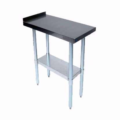 "Picture of John Boos EFT8-3015-X Work Table, 15"", Stainless Steel Top"