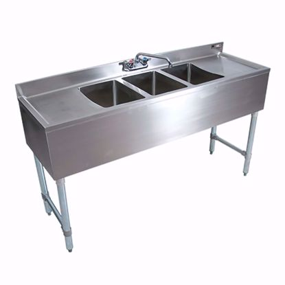Picture of John Boos EUB3S72SL-2D-X Underbar Sink Units