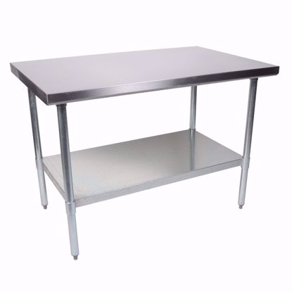 "Picture of John Boos FBLG3630-X Work Table, 36"", Stainless Steel Top"