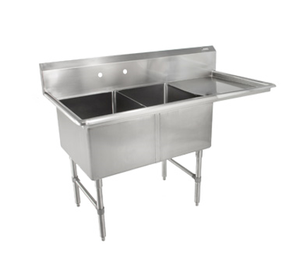 Picture of John Boos   2B18244-1D18R-X   Two (2) Compartment Sink