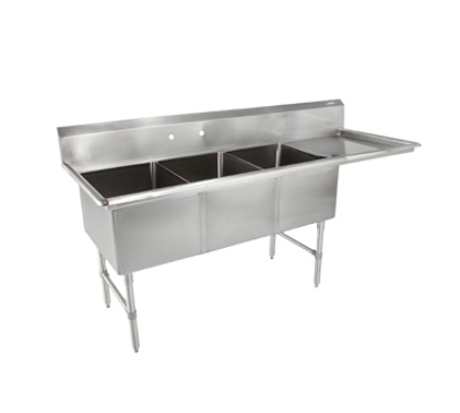 Picture of John Boos   3B18244-1D18R-X   Three (3) Compartment Sink