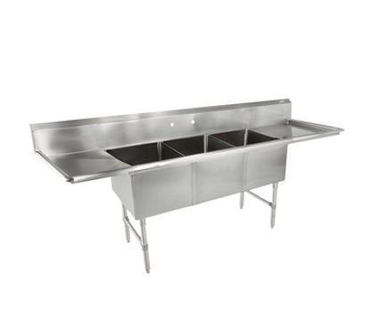 Picture of John Boos   3B18244-2D24-X   Three (3) Compartment Sink