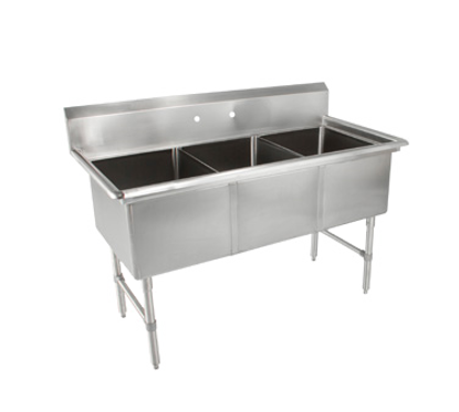 Picture of John Boos   3B18244-X   Three (3) Compartment Sink