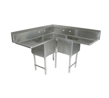 Picture of John Boos   3BCS-184-2D18-X   Three (3) Compartment Sink