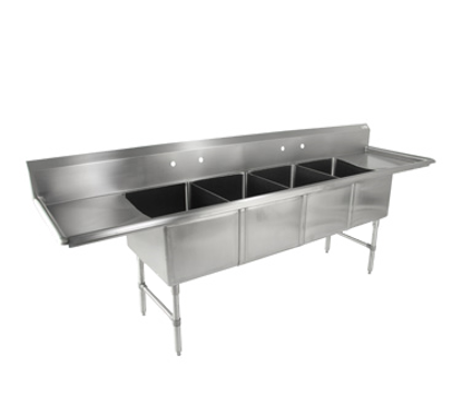 Picture of John Boos   4B18244-2D18   Four (4) Compartment Sink