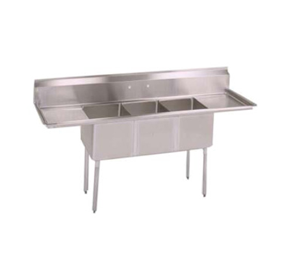 Picture of John Boos   E3S8-1014-10T15-X   Three (3) Compartment Sink