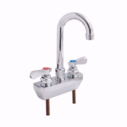 Picture of John Boos   PBF-4SM2-3GLF-X   Wall / Splash Mount Faucet