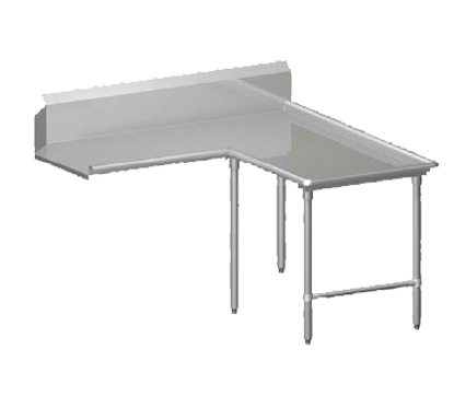 """Picture of John Boos CDT6-I6060GBK-R Dishtable, Clean """"L"""" Shaped"""