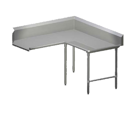 """Picture of John Boos CDT6-K6048GBK-R Dishtable, Clean """"L"""" Shaped"""