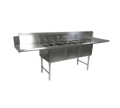 Picture of John Boos DT3B244-2D24R-X Dishtable, with Potsinks