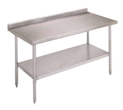 "Picture of John Boos FBLGR5-2424-X Work Table, 24"", Stainless Steel Top"