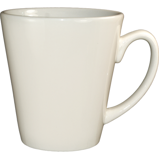 Picture of International Tableware	Tulsa Funnel Cup  American White - Vitrified  3 5/8  In. D  3 7/8  In. H	13 Oz	Mugs  and   Saucers - American White