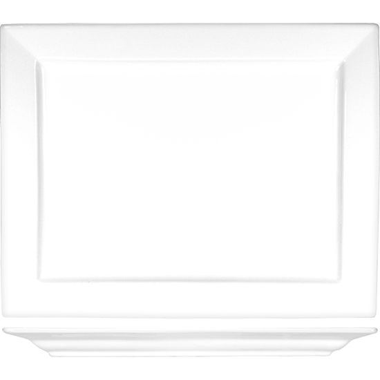 Picture of International Tableware	Platter	14   inches  X 10 7/8   inches 	Elite        Porcelain       Bright White         Rectangle  and   Square