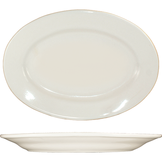 Picture of International Tableware	Platter	9 3/8  In. X 6 5/16  In.  	Roma        American White       Rolled Edge       Round Shape