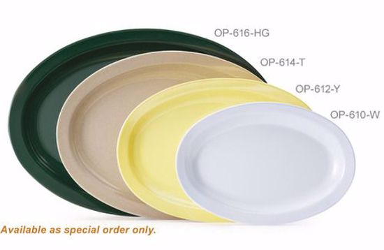 Picture of Get Enterprises	Sand stone	Supermel 	13.25 In.  X 9.75 In.  Oval Platter	Melamine