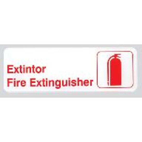 Picture of Tablecraft  inch(es)Extintor/Fire Extinguisher inch(es) Sign (Spanish/English)  Plastic  3 x 9 inch(es)