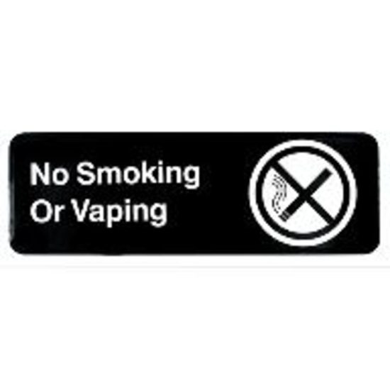 Picture of Tablecraft 3  inchesx9  inches Sign  No Smoking or Vaping