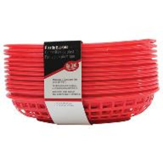 Picture of Tablecraft Jumbo Oval Basket  Red  11.75 x 8.875 x 1.875  inches (12 per Pack)