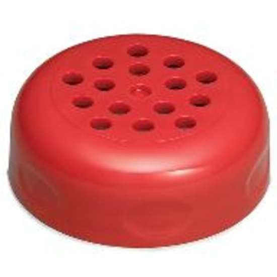 Picture of Tablecraft Perforated Plastic Tops for 6 or 8 oz Shakers  Red (1 DZ per Polybag)
