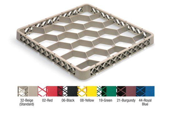 Picture of Vollrath Traex Rack Max Dishwasher Rack Extender Full-Size (20) Compartments 19-3/4  inches W X 19-3/4  inches D X 1-9/16  inches H (Compartment Size 3-15/16  inches Hexagon) Co-Polymer Plastic Specify Color Made In Usa