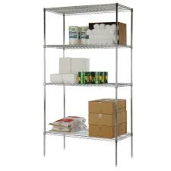 Picture of Crown Brands 4 Shelf Kit 24 In.  X 36 In.   and  74 In.  Split Posts  Chromate Finish