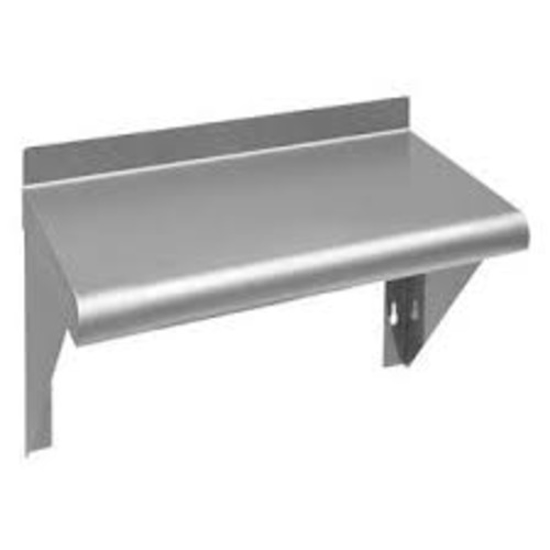 Picture of Crown Brands Wall Shelf (Nsf)  72 In.  X 12 In.   1-1/2 In.  Up-Turn Back.  #430 Stainless Steel  18 Gauge.  Three Brackets.