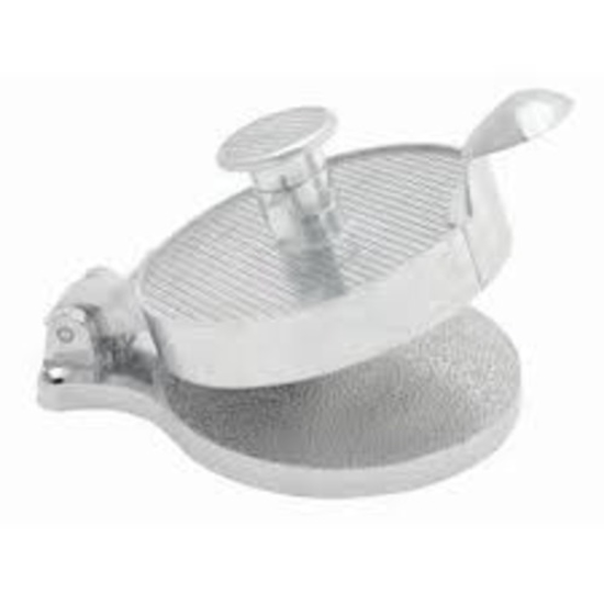 Picture of Crown Brands Hamburger Press  Adjustable  Cast Aluminum  4-1/2 In. Interior Diameter.  3 In. High To Top Of Adjusting Hand le.  7-1/2 In. Overall Length.