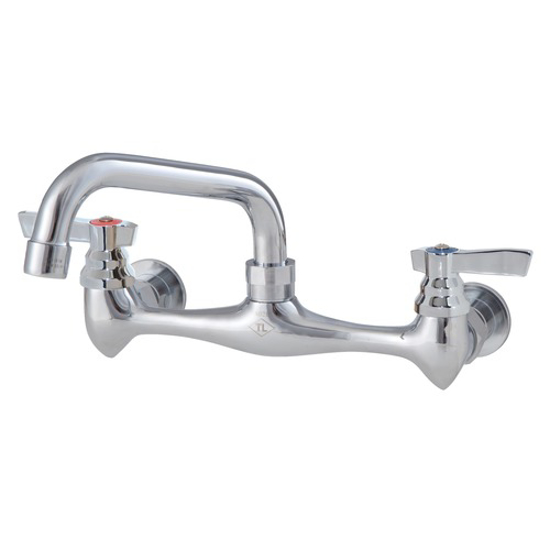 "Picture of Component Hardware Top-Line 8"" OC Wall Mount Faucet with 16"" Swivel Spout"