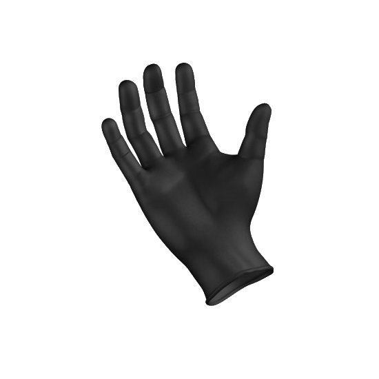 Picture of FEB Black Nitrile Gloves Powder Free