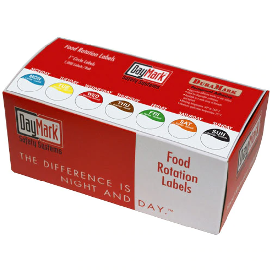Picture of FEB Food Rotation Dot Labels in Dispensing Box